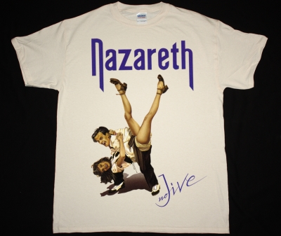 NAZARETH NO JIVE 91 NEW NATURAL COLOR T-SHIRT