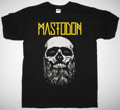 MASTODON SKULL BEARD ADMAT NEW BLACK T-SHIRT