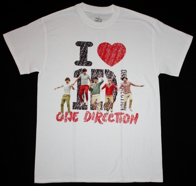 ONE DIRECTION BOYBAND NEW WHITE T-SHIRT