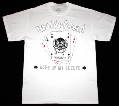 MOTORHEAD ACES UP MY SLEEVE NEW WHITE T-SHIRT