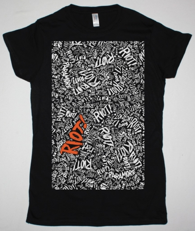 PARAMORE RIOT NEW BLACK LADY T-SHIRT