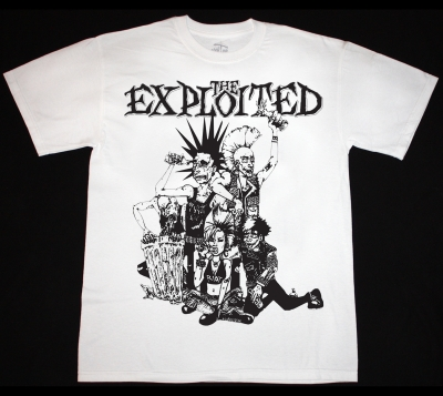 THE EXPLOITED PUNK CREW  NEW WHITE T-SHIRT