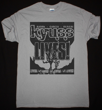 KYUSS LIVES NEW LIGHT GREY T-SHIRT