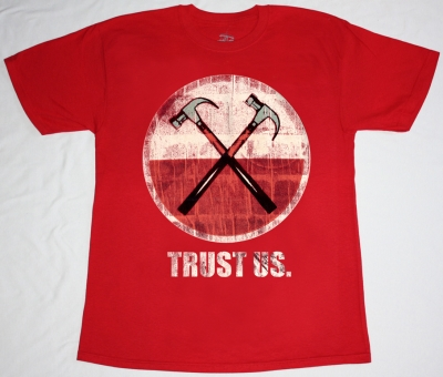 ROGER WATERS TRUST US  NEW RED T-SHIRT