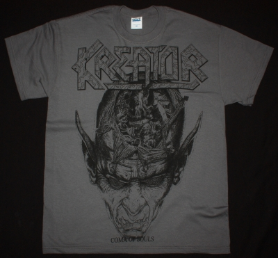 KREATOR COMA OF SOULS'90 JUMBO PRINT NEW GREY CHARCOAL T-SHIRT