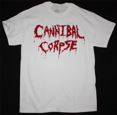CANNIBAL CORPSE LOGO NEW WHITE T-SHIRT