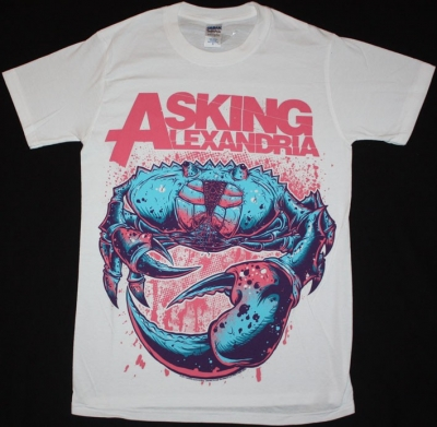 ASKING ALEXANDRIA CRAB  NEW WHITE T-SHIRT