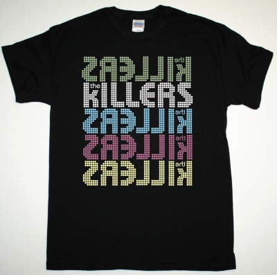 THE KILLERS 5 LOGOS NEW BLACK T-SHIRT