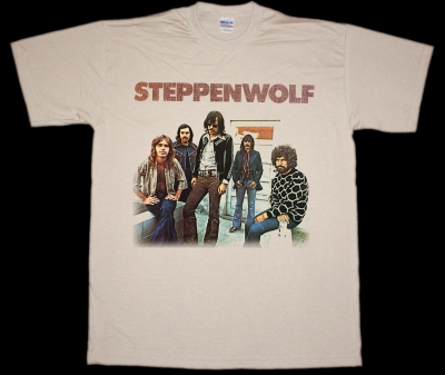 STEPPENWOLF BAND NEW NATURAL COLOUR T-SHIRT