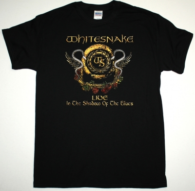 WHITESNAKE LIVE IN THE SHADOW OF THE BLUES NEW BLACK T-SHIRT