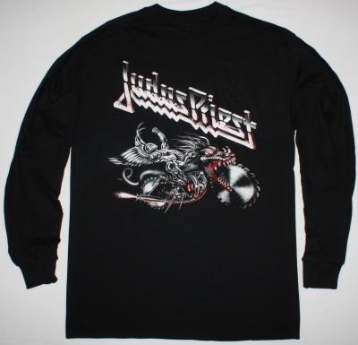 JUDAS PRIEST PAINKILLER'90 NEW BLACK LONG SLEEVE T-SHIRT