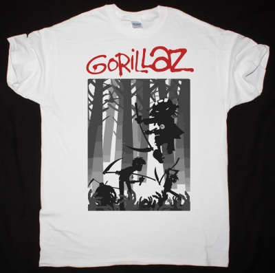 GORILLAZ FOREST NEW WHITE T SHIRT