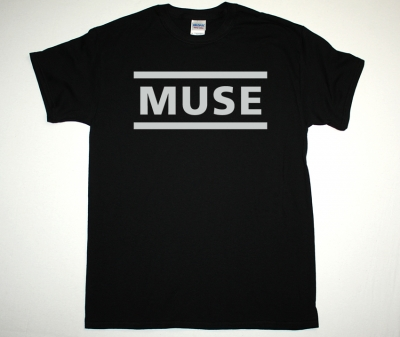 MUSE LOGO NEW BLACK T-SHIRT