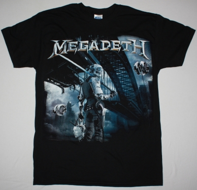 MEGADETH DYSTOPIA 2016 NEW BLACK T-SHIRT