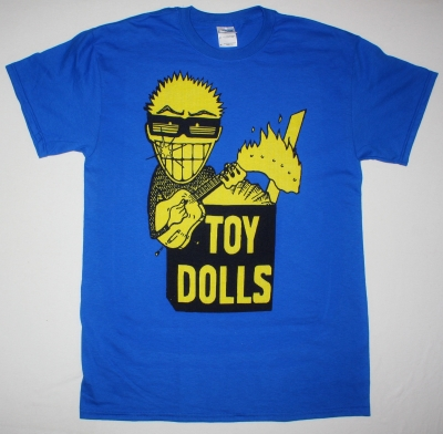 THE TOY DOLLS IDLE GOSSIP NEW BLUE T-SHIRT