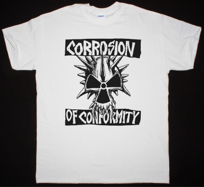 CORROSION OF CONFORMITY EYE FOR AN EYE SKULL NEW WHITE T-SHIRT