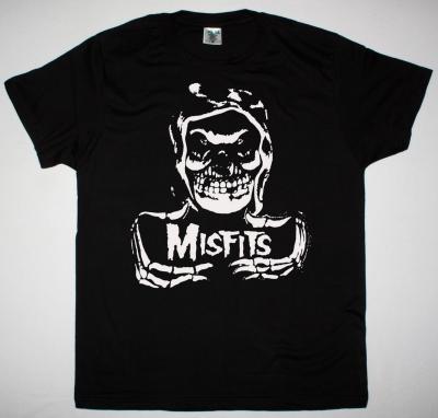 MISFITS HOODED FIEND NEW BLACK T SHIRT
