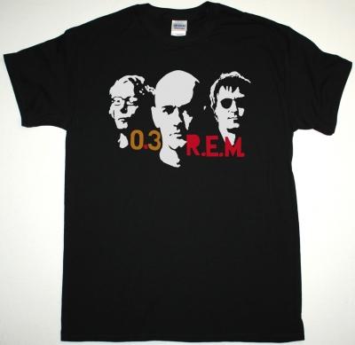 R.E.M. TOUR 03 NEW BLACK T-SHIRT