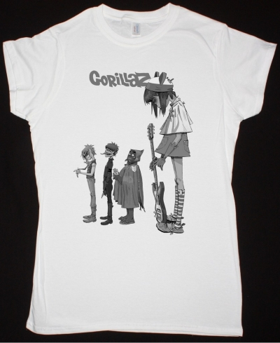 GORILLAZ NOODLE NEW LADY WHITE T SHIRT