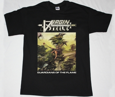 VIRGIN STEELE GUARDIANS OF THE FLAME'83 NEW RARE BLACK T-SHIRT