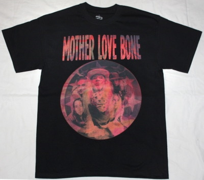 MOTHER LOVE BONE APPLE'90 NEW BLACK T-SHIRT