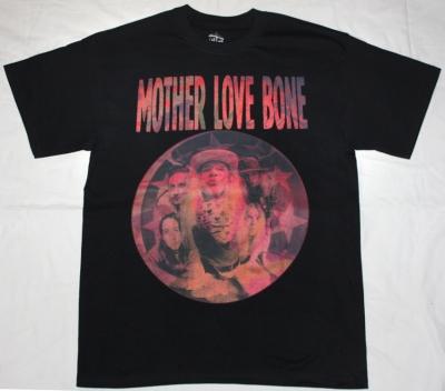 MOTHER LOVE BONE APPLE'90 NEW BLACK T-SHIRT