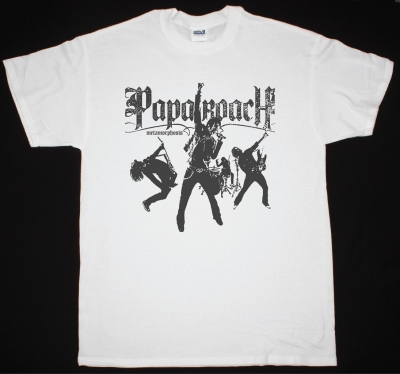 PAPA ROACH METAMORPHOSIS NEW WHITE T-SHIRT