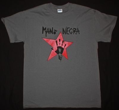MANO NEGRA KING OF BONGO NEW GREY T-SHIRT
