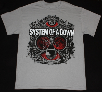 SYSTEM OF A DOWN BROTHERHOOD NEW LIGHT GREY T-SHIRT
