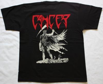 CANCER DEATH SHALL RISE 1991 NEW BLACK T-SHIRT