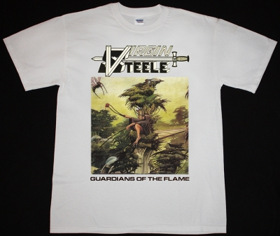 VIRGIN STEELE GUARDIANS OF THE FLAME'83 NEW WHITE T-SHIRT