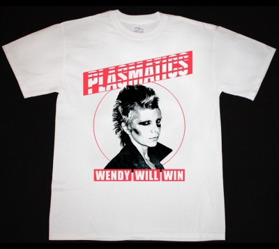 PLASMATICS WENDY WILL WIN NEW WHITE T-SHIRT
