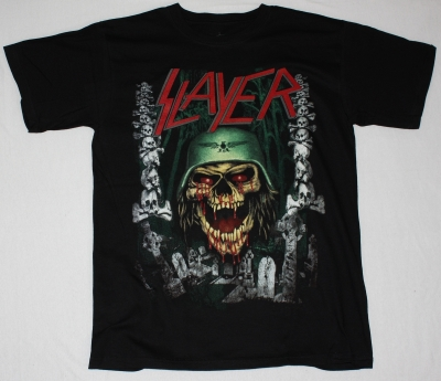 SLAYER SKULLS NEW BLACK T-SHIRT
