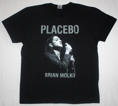 PLACEBO TOUR 2010 BRIAN MOLKO NEW BLACK T-SHIRT