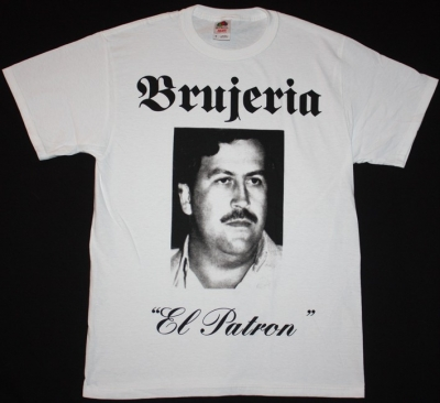 BRUJERIA EL PATRON  NEW WHITE T-SHIRT