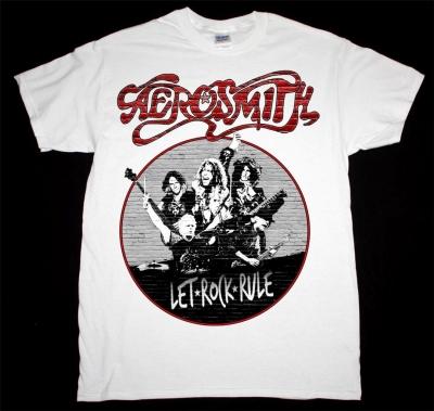 AEROSMITH LET ROCK RULE TOUR 2014 NEW WHITE T-SHIRT