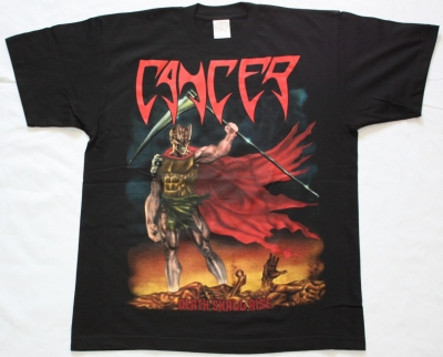 CANCER DEATH SHALL RISE 1991 NEW BLACK T-SHIRT