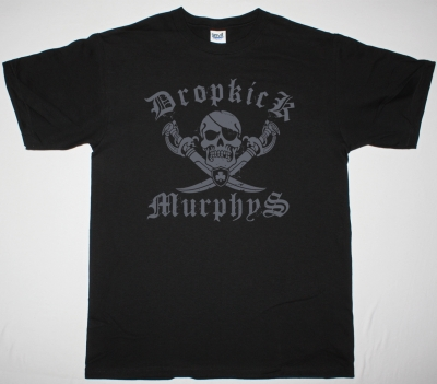 DROPKICK MURPHYS JOLLY ROGER NEW BLACK T-SHIRT