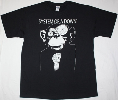 SYSTEM OF A DOWN MONKEY NEW BLACK T-SHIRT