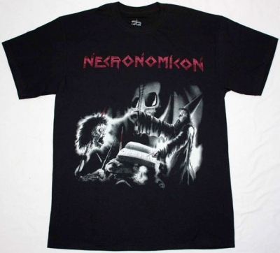 NECRONOMICON APOCALYPTIC NIGHTMARE '87 NEW BLACK T-SHIRT