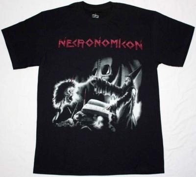 NECRONOMICON APOCALYPTIC NIGHTMARE '87 NEW BLACK T-SHIRT