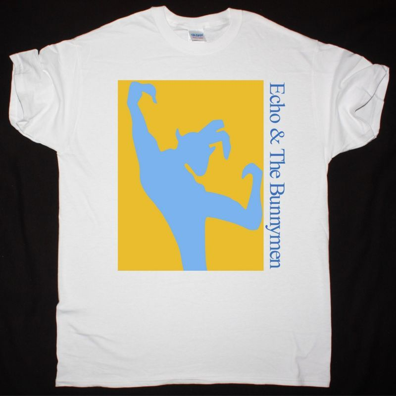 ECHO AND THE BUNNYMEN 80s TOUR NEW WHITE T SHIRT