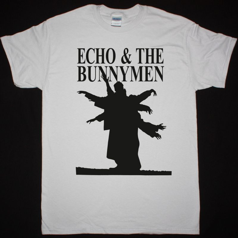 ECHO AND THE BUNNYMEN SILHOUETTE NEW ICE GREY T SHIRT