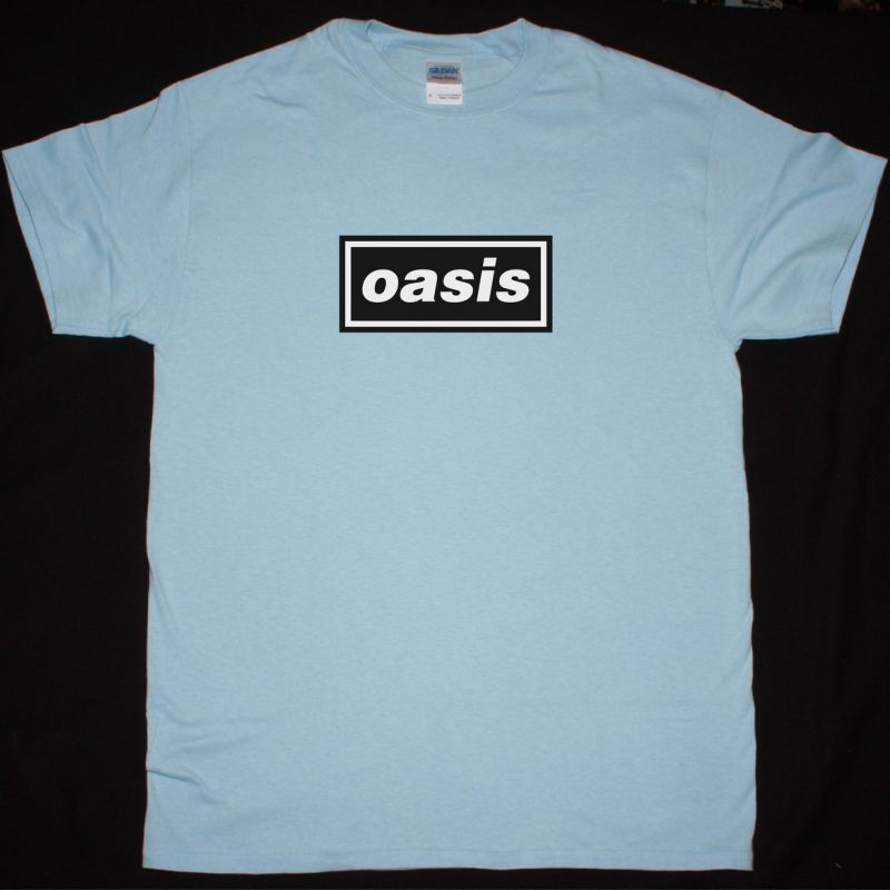 OASIS LOGO NEW LIGHT BLUE T-SHIRT