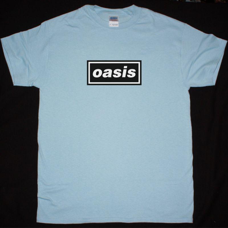 OASIS LOGO NEW LIGHT BLUE T-SHIRT
