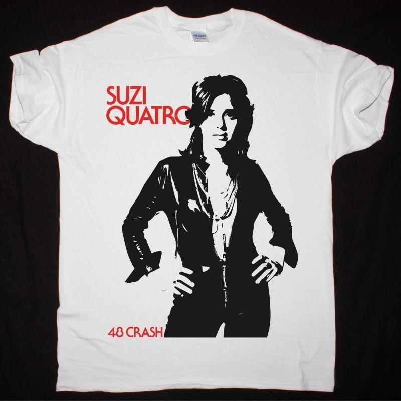 SUZI QUATRO 48 CRASH NEW WHITE T SHIRT