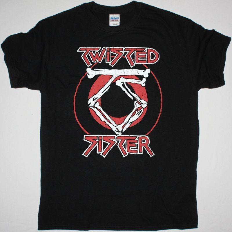 TWISTED SISTER LOGO NEW BLACK T SHIRT