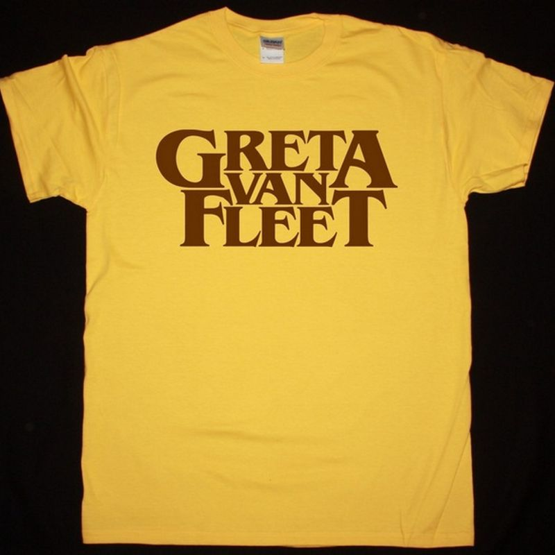 GRETA VAN FLEET LOGO NEW YELLOW T SHIRT