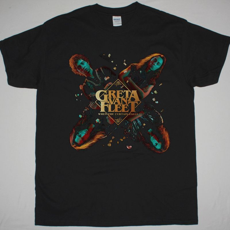 GRETA VAN FLEET WHEN THE CURTAIN FALLS NEW BLACK T SHIRT