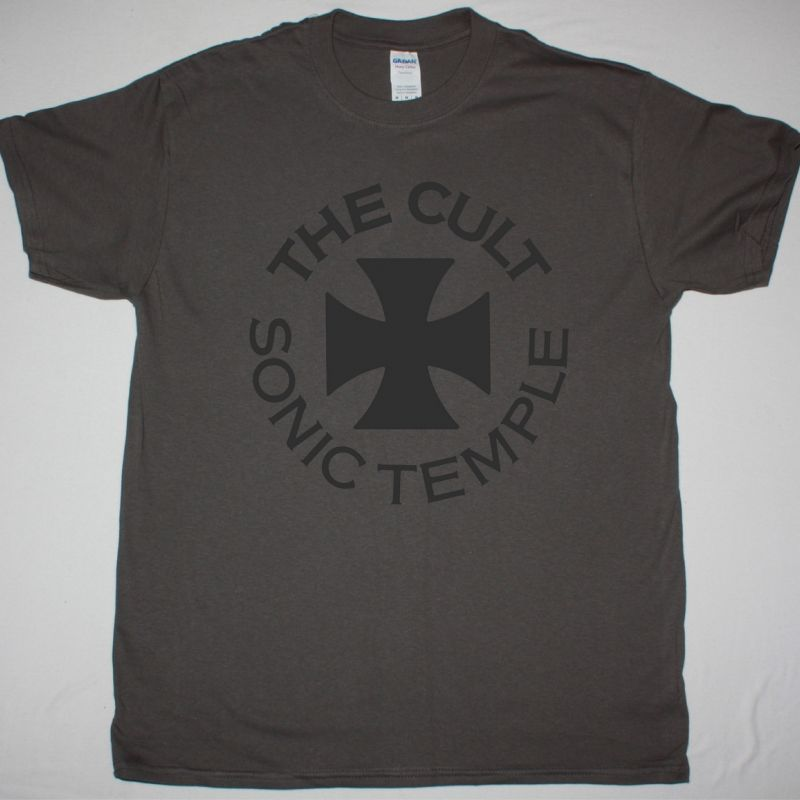 THE CULT SONIC TEMPLE TOUR 89-90 LOGO NEW GREY T-SHIRT